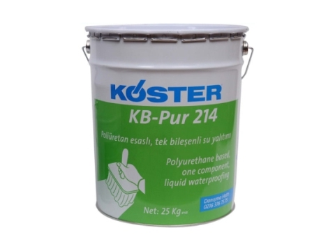 Poliüretan esaslı, tek bileşenli likit su yalıtımı (KB-Pur 214)