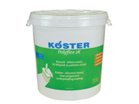 Kauçuk - bitüm esaslı, iki bileşenli su yalıtımı ürünü (Polyflex 2K )
